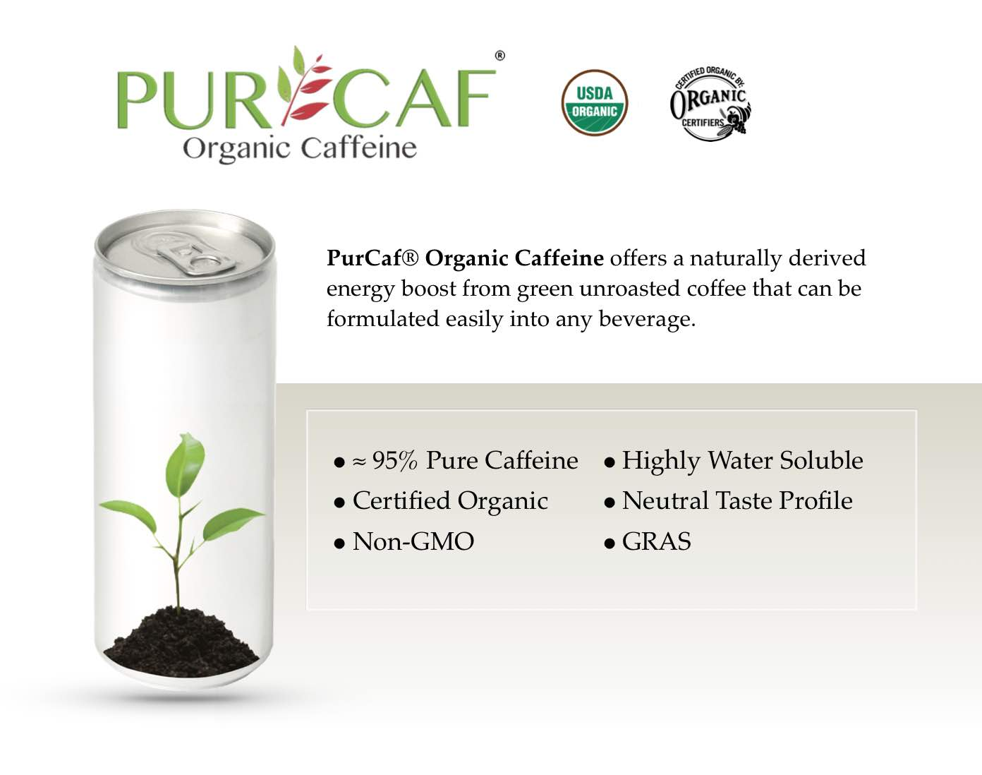 PurCaf® Organic Caffeine Supplier
