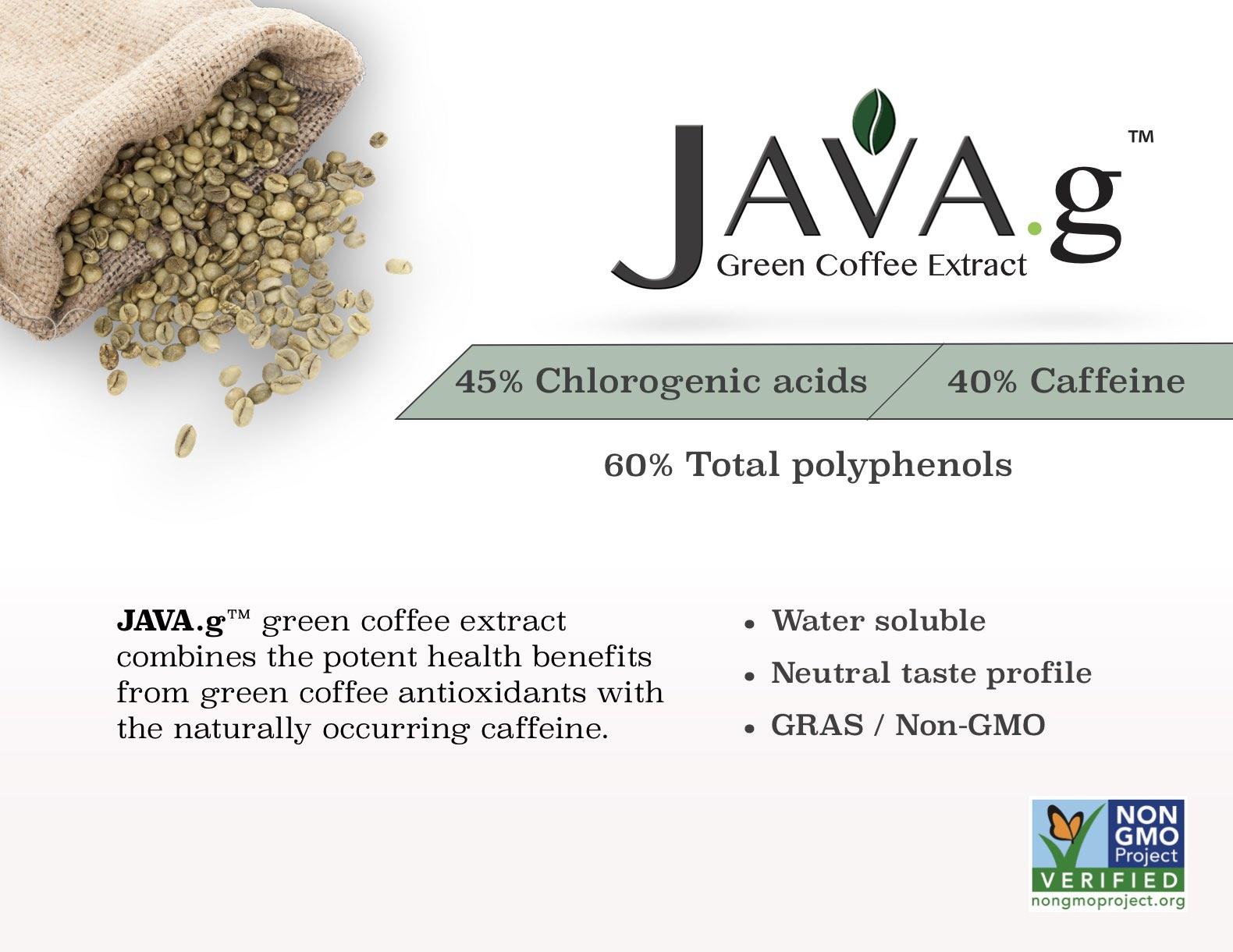 JAVA.g™ Green Coffee Extract for Energy