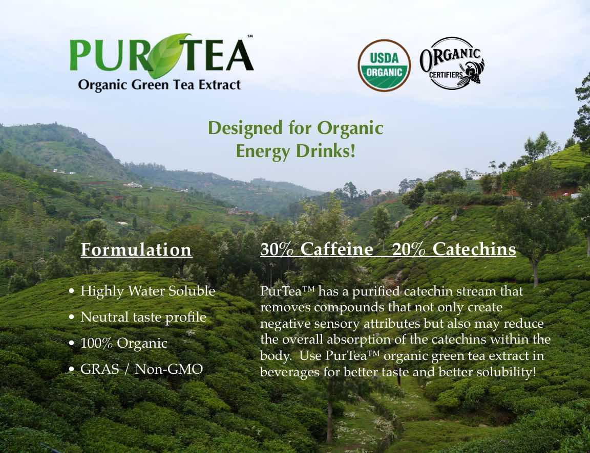 Applied Food Sciences is a supplier of PurTea Organic Green Tea Extract for Beverages