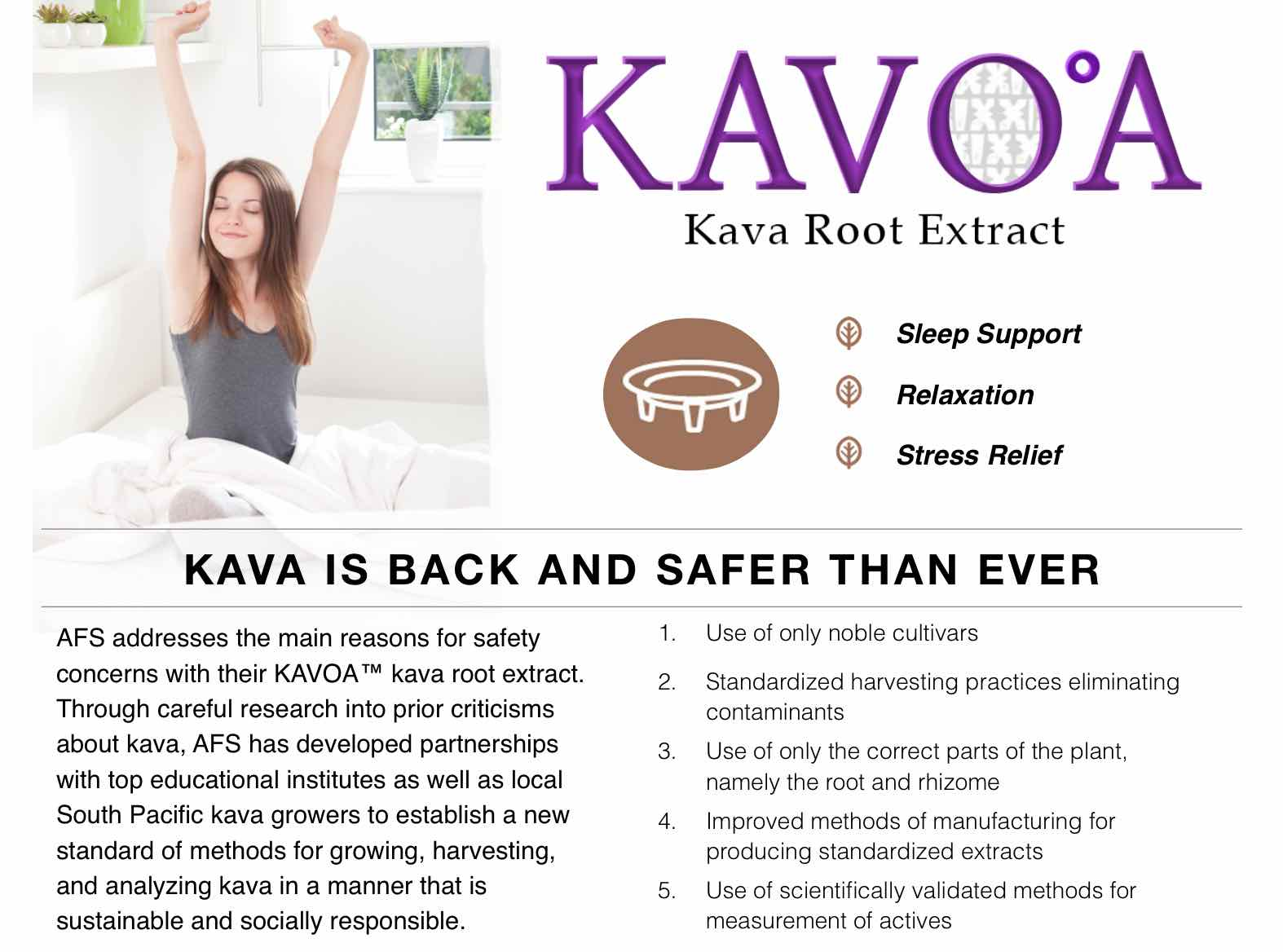 KAVOA kava root extract supplier
