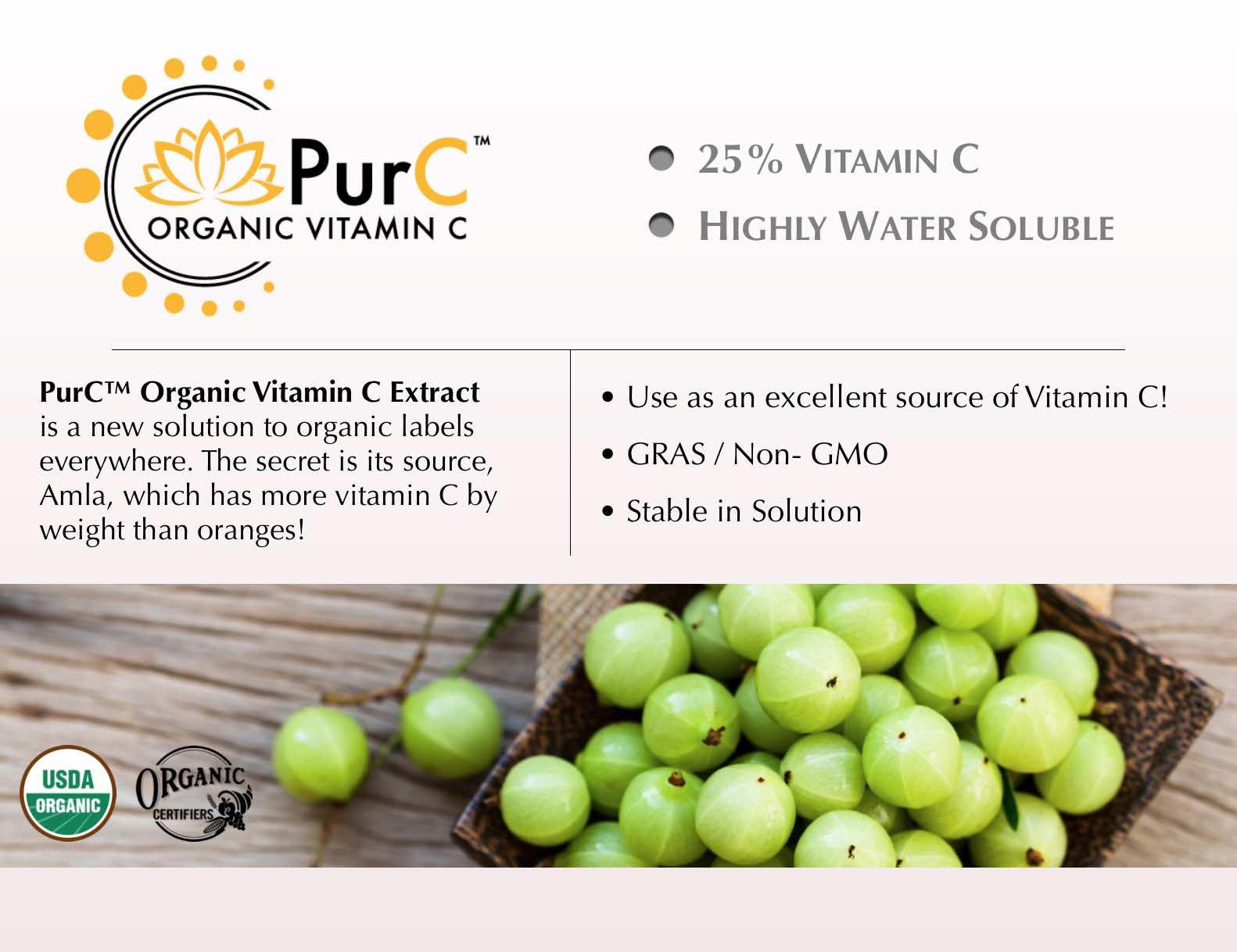 Organic Vitamin C Extract Supplier PurC