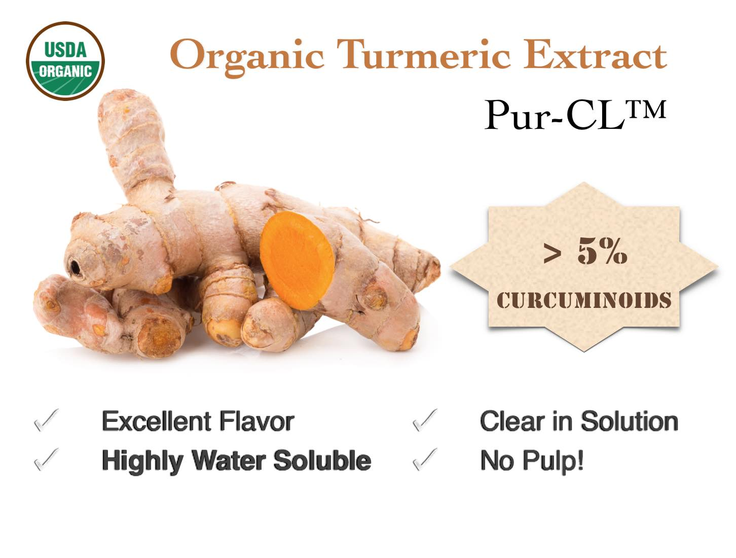 Organic Turmeric Extract for Beverages
